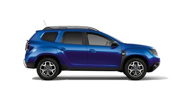 Dacia Duster HJD Techroad - Widok samochodu z profilu - Kolor Czerwony Fusion