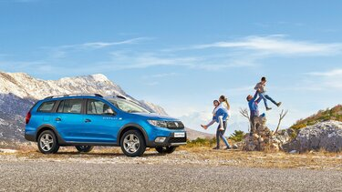 Logan MCV Stepway - Carrinha azul