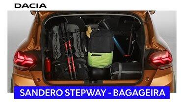 novo dacia sandero stepway espaço bagageira