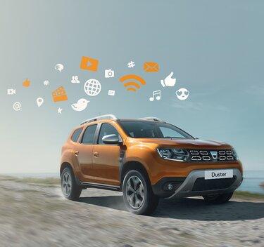 Dacia Duster Orange - Vedere laterală