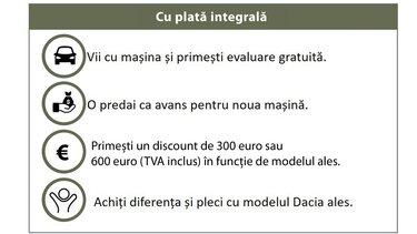 trade in dacia pasi cu plata integrala