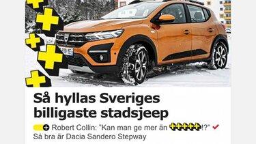 Nya Sandero Stepway i Aftonbladet Plus