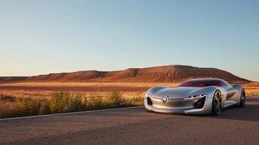 Renault TREZOR Concept en la carretera