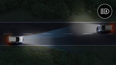 Cambio automático entre luces plenas y luces de cruce