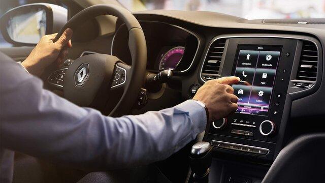Interior de cabina de Renault