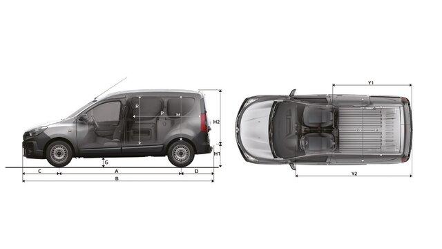 Renault MASTER Furgón - Dimensiones