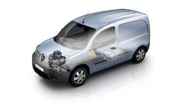 Renault KANGOO Z.E. Dimensiones y motores