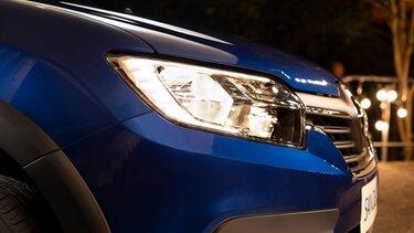 Renault SANDERO - Vista del vehículo con airbags delanteros