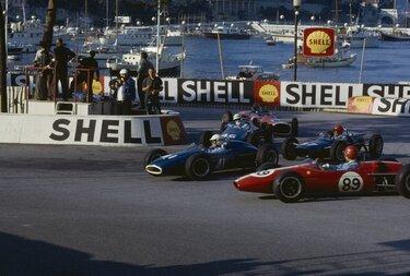 Alpine Rennwagen in Monaco