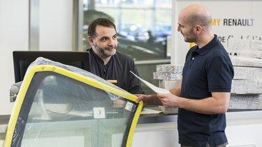 Scheibenaustausch in einer Renault Fachwerkstatt