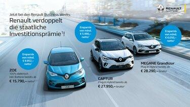Renault EV Range Flottenangebot