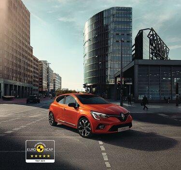 Orangefarbener CLIO Kleinwagen Außendesign