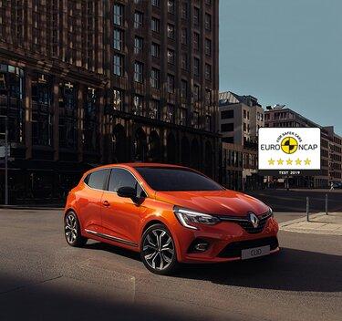 Renault CLIO Kleinwagen orangefarbenes Außendesign