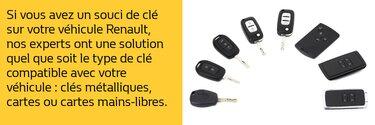 Remplacement de clés - Renault