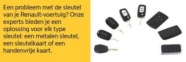 Sleutel en handvrijkaart - Renault