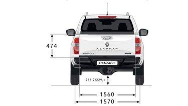 ALASKAN - Dimensions face arrière - Renault