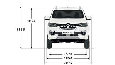 ALASKAN - Dimensions face avant - Renault