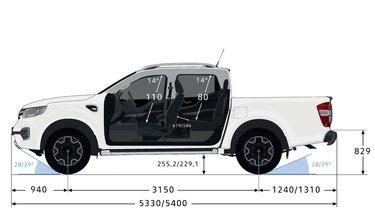 ALASKAN - Dimensions profile - Renault