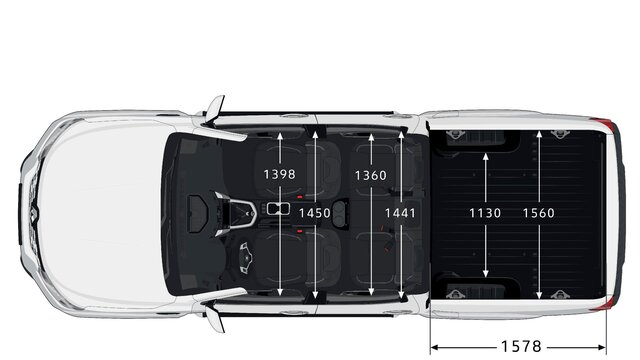 ALASKAN - Dimensions vue de haut - Renault