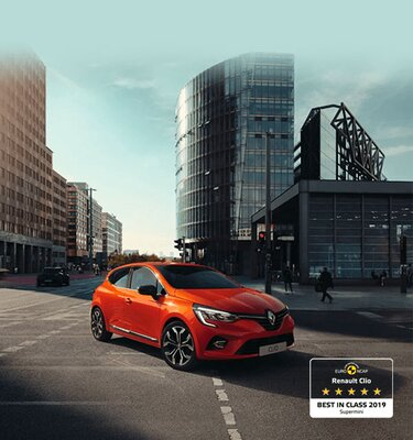 CLIO stadswagen buitenkant oranje