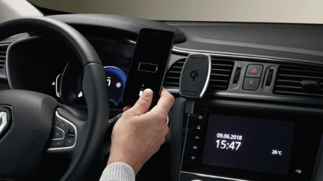 Support smartphone avec  chargeur à induction Qi