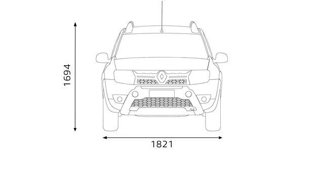 Renault Duster OROCH - dimensões frontais