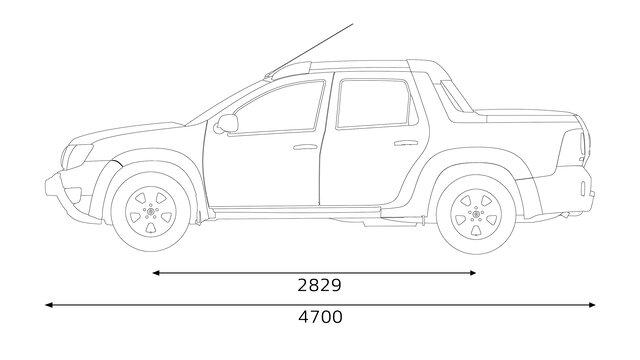 Renault Duster OROCH - dimensões laterais