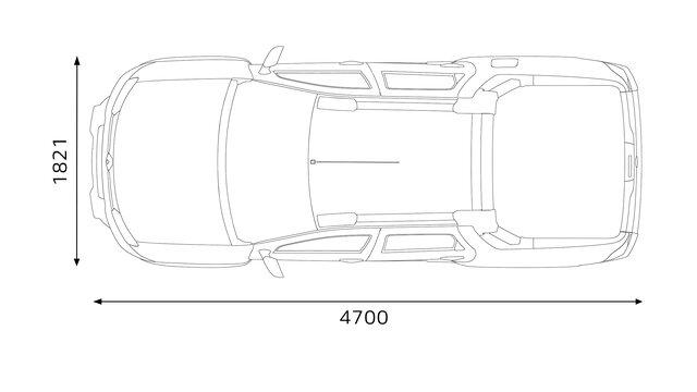 Renault Duster OROCH - dimensões traseiras