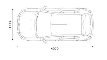 Renault SANDERO - dimensões da traseira
