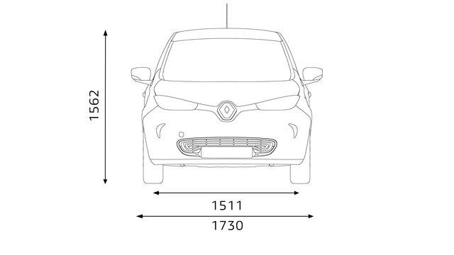 Dimensões laterais do Renault ZOE