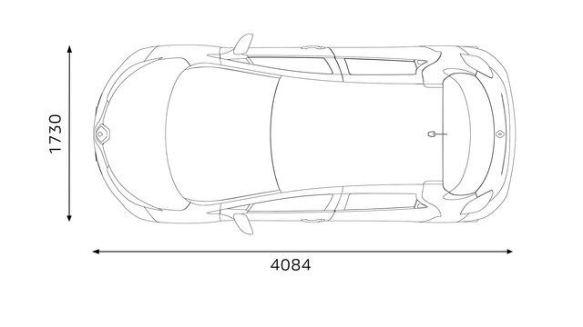 Dimensões traseiras do Renault ZOE