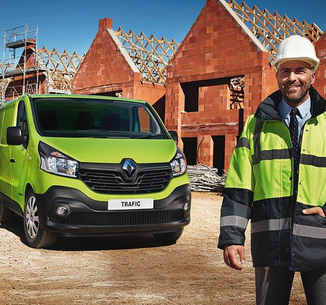 Intestazione veicoli per edilizia Renault