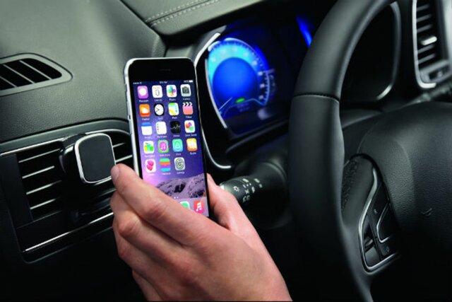 Mobile Smartphone-Halterung - an der Lüftung - magnetisch