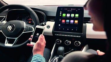 Smartphone-Replikation auf dem 9,3-Zoll-Touchscreen des CLIO