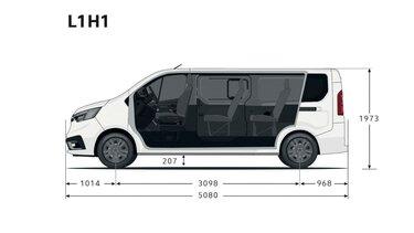 Renault Trafic Passenger – Dimensioni anteriori