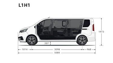 Renault Trafic SpaceClass – Frontabmessungen