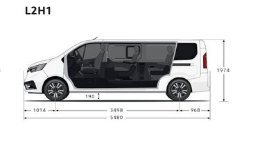 Renault Trafic SpaceClass – Seitenabmessungen