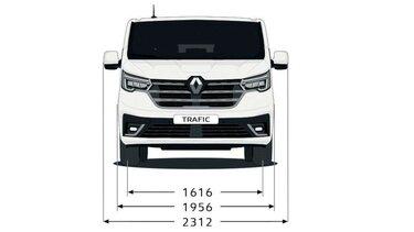 Renault Trafic Passenger – Dimensioni posteriori