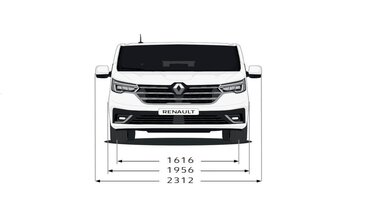 Renault Trafic SpaceClass – Heckabmessungen