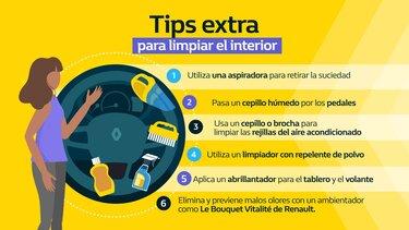 Tips extra para limpiar el interior