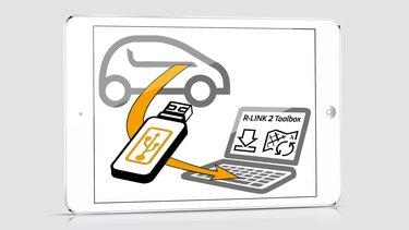 Renault R-Link 2 - Inserción de una memoria USB en pc