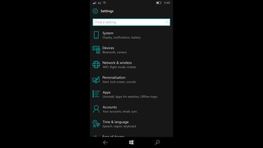 versión del software del windows phone
