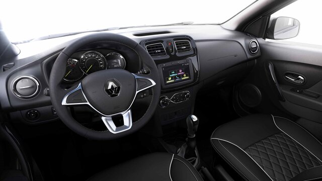 Renault LOGAN - Vista interior de los asientos traseros