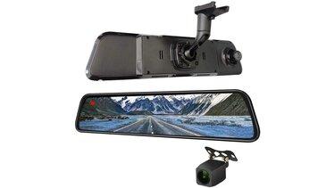 Sandero - dashcam + cámara reversa espejo TT