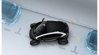 Renault TWIZY sensores