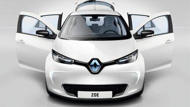Renault ZOE frontal puertas abiertas