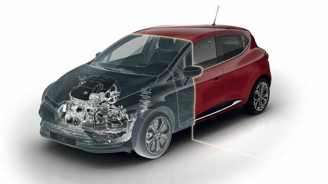 Světlomety vozu Renault CLIO