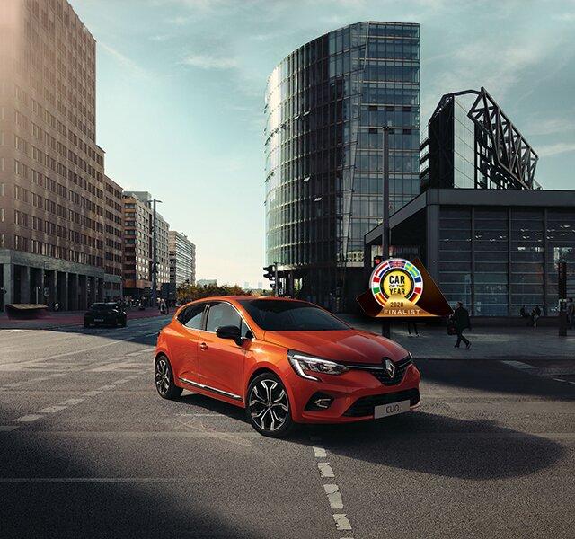 Oranžový malý vůz CLIO