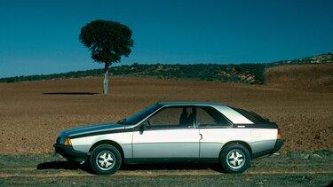 Renault Fuego parkt am Straßenrand