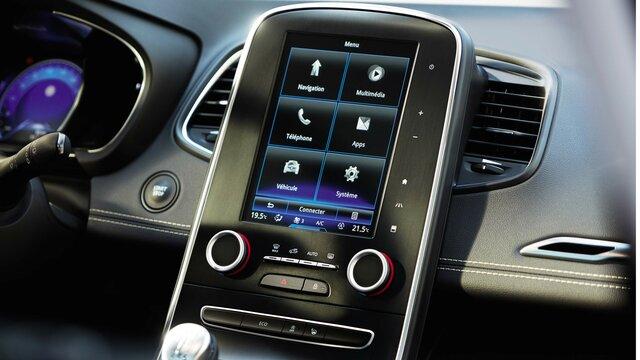 Online-Multimediasysteme R-LINK 2 und R-Link Evolution im Renault Fahrzeug-Cockpit